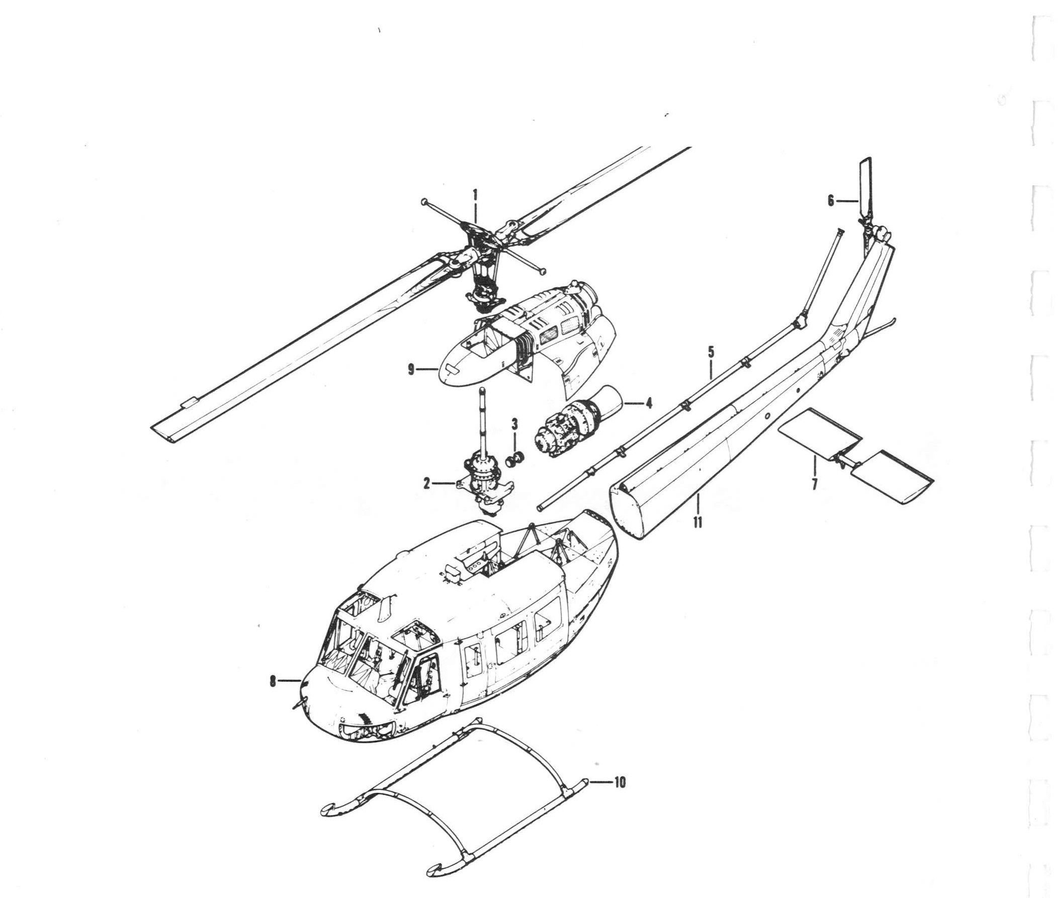 Exploded View Of Helicopter 2 2