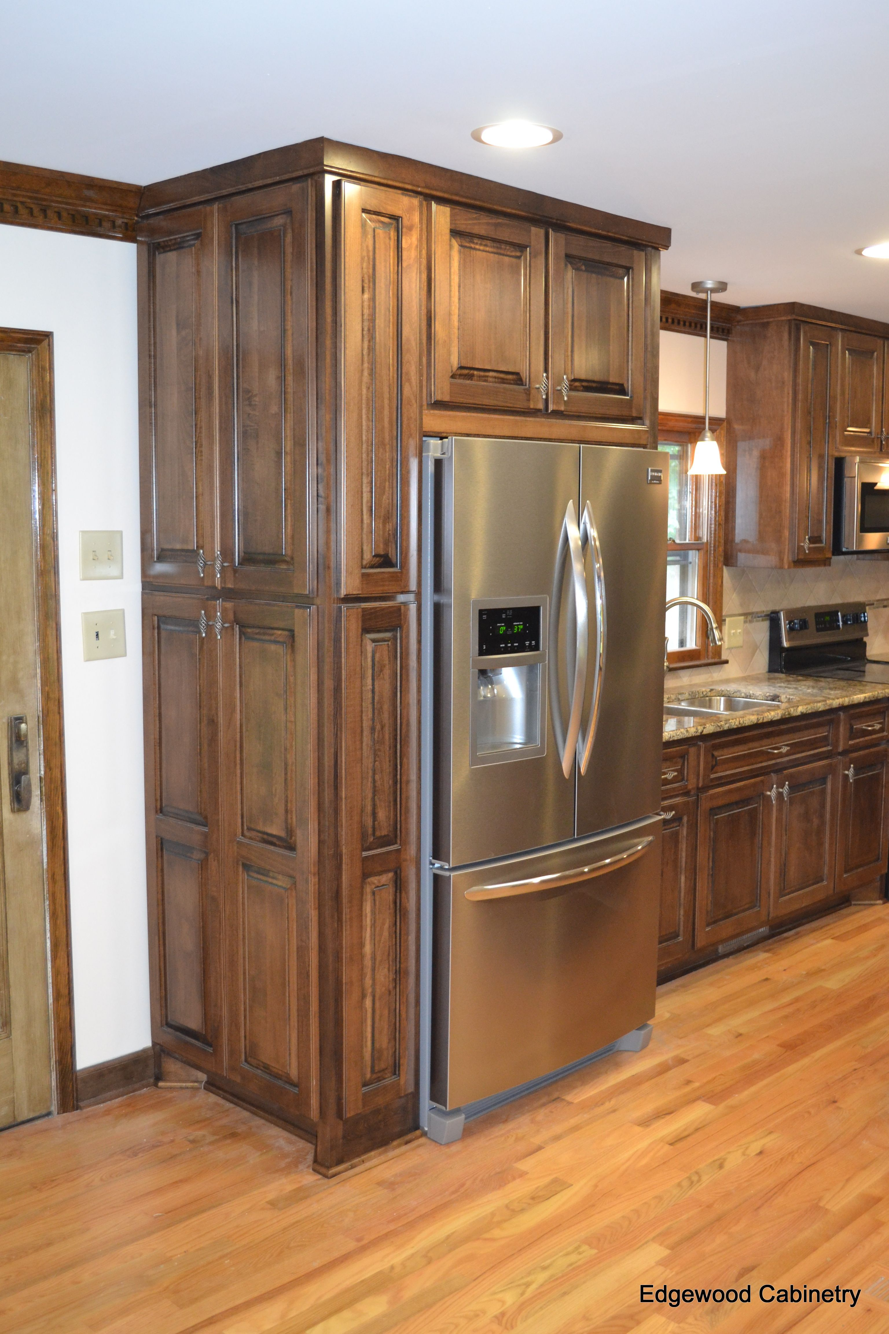 Custom maple cabinets finished in a walnut stain and then ... on Dark Maple Cabinets  id=77214