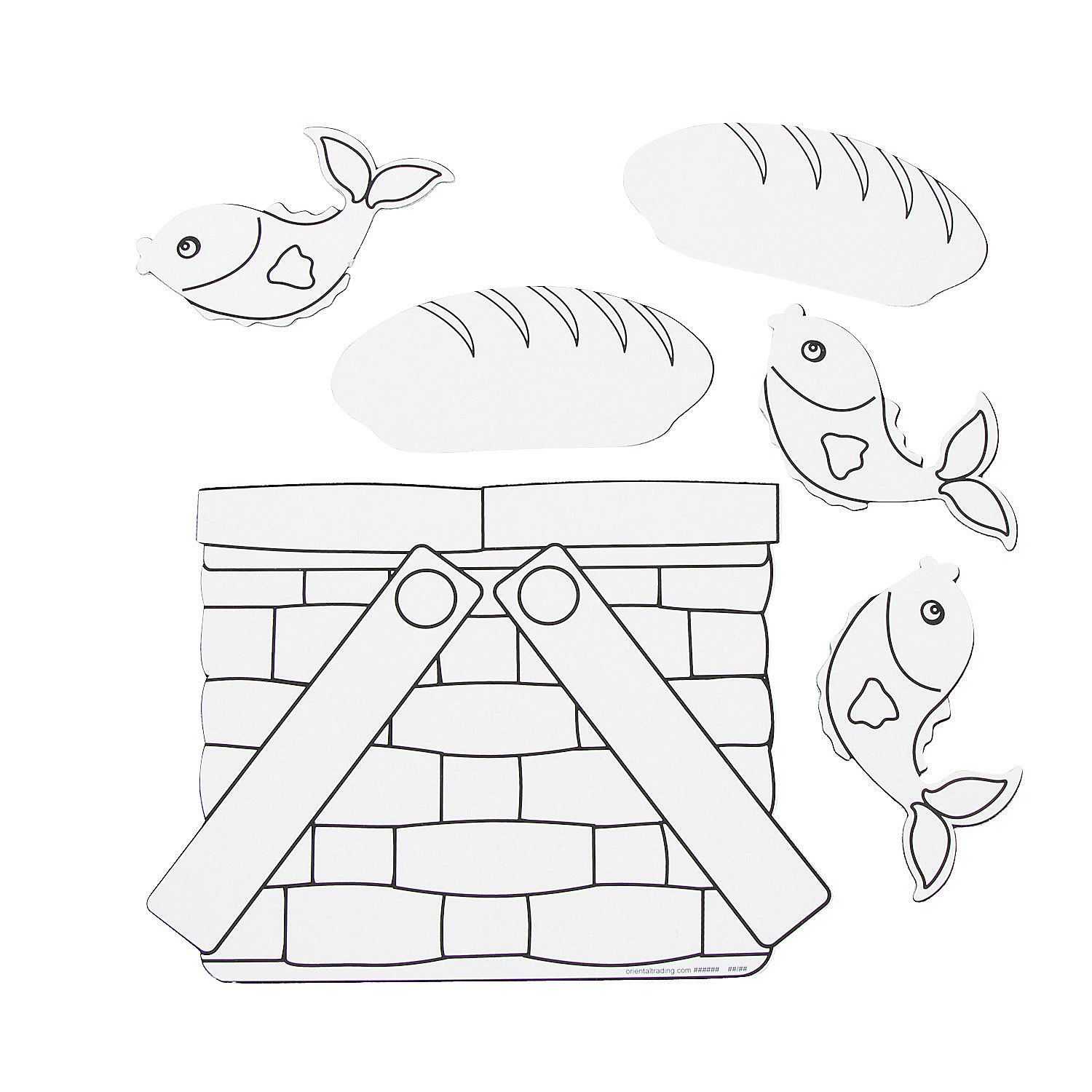 Loaves Amp Fishes Lesson Color Your Own Loaves Amp Fishes