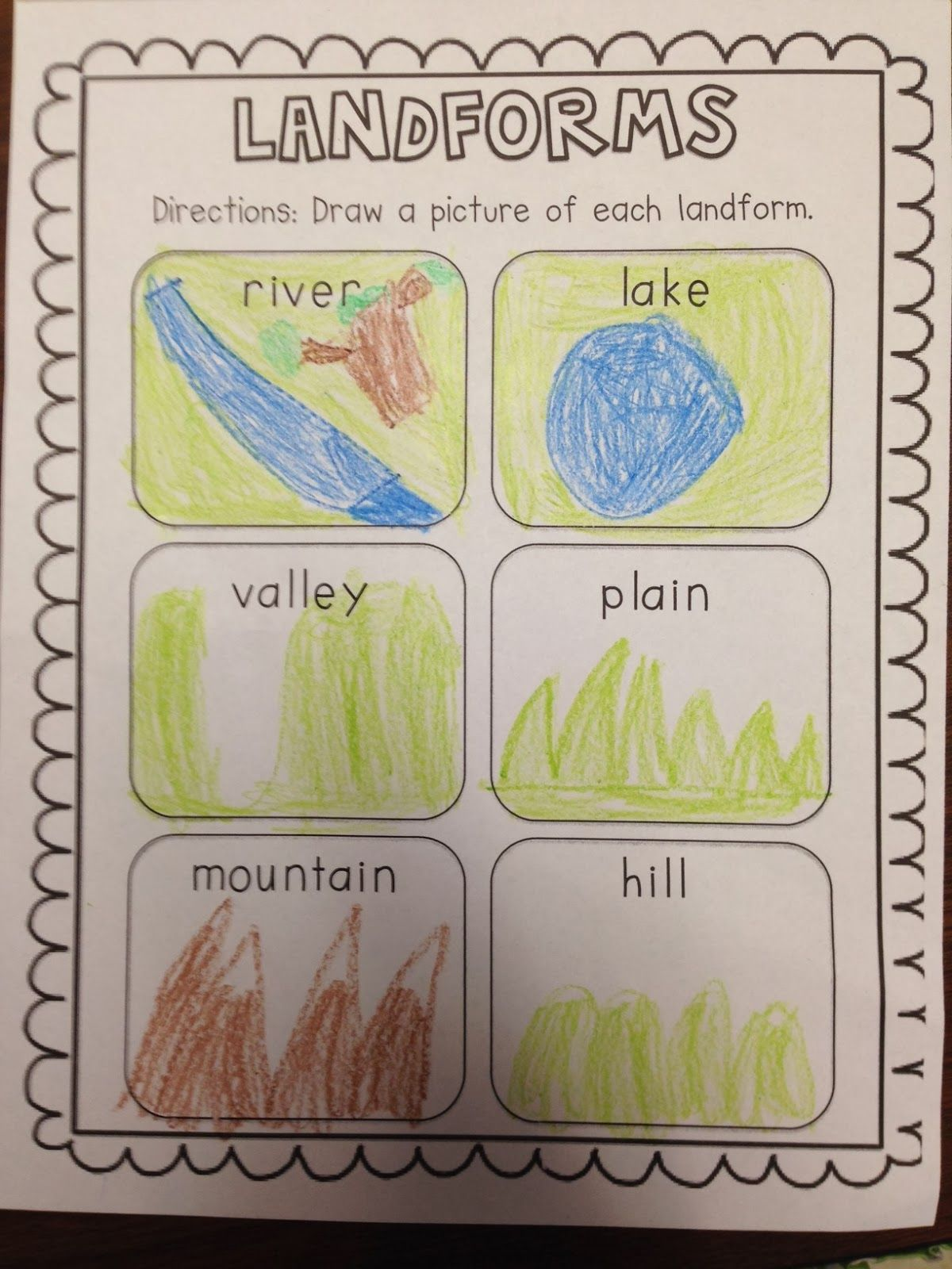 Chalk Talk A Kindergarten Blog Landforms This Is A Great Post On Landforms Amp There Is A