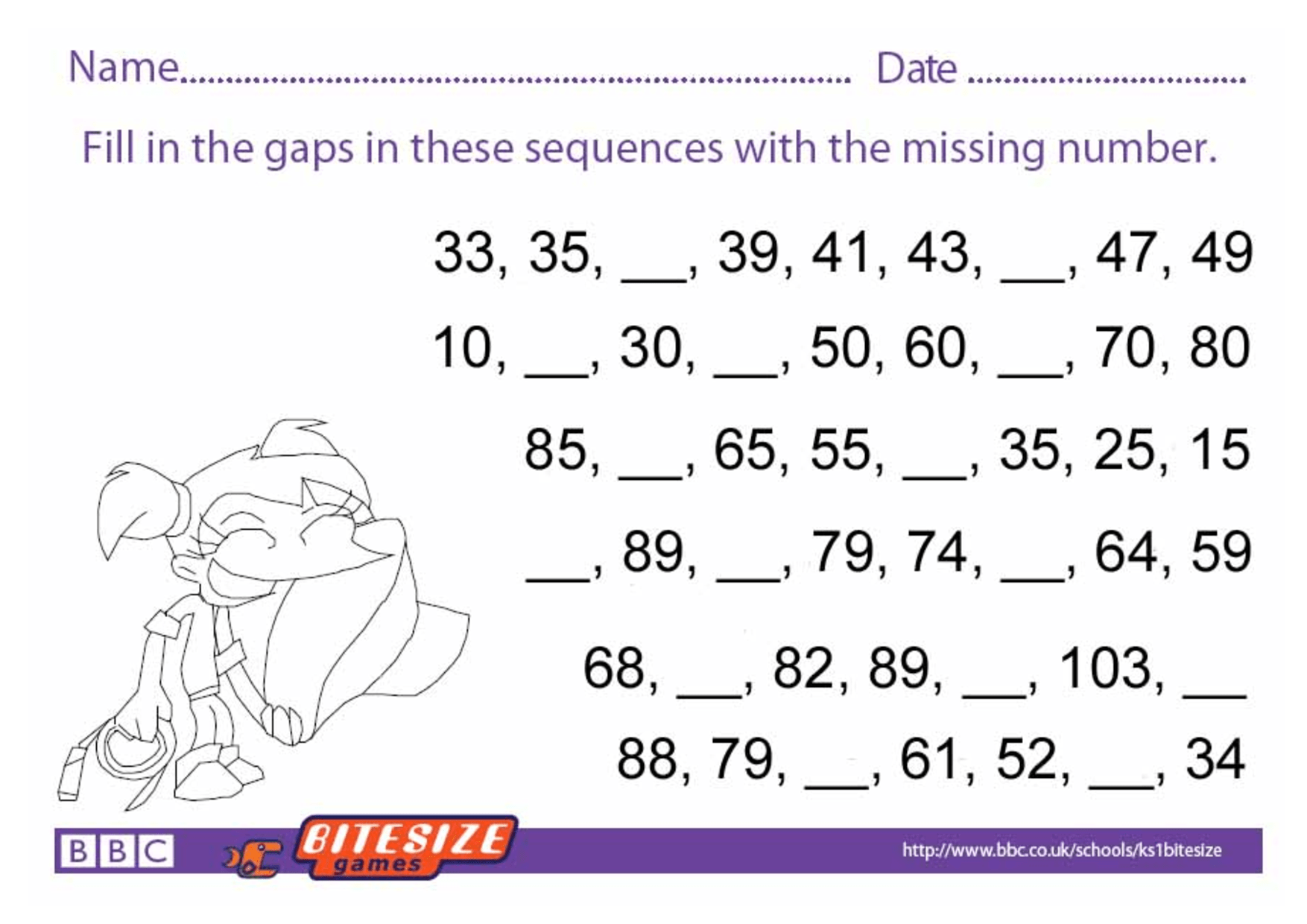 K2 Maths Worksheets