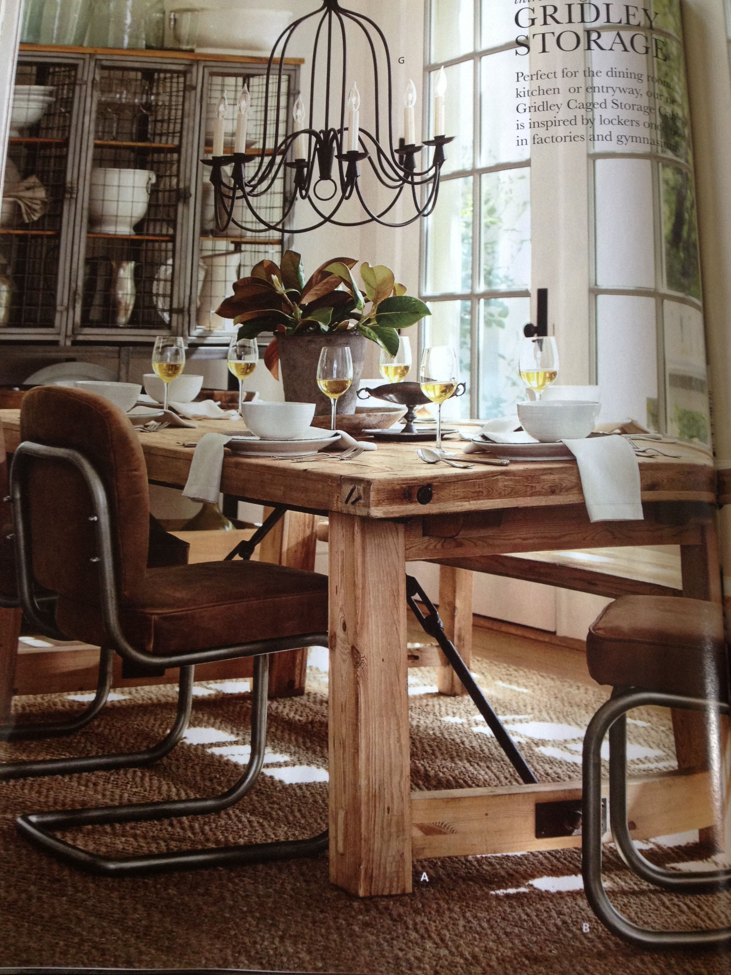 Pottery Barn-benchwright Dining In Wax Pine