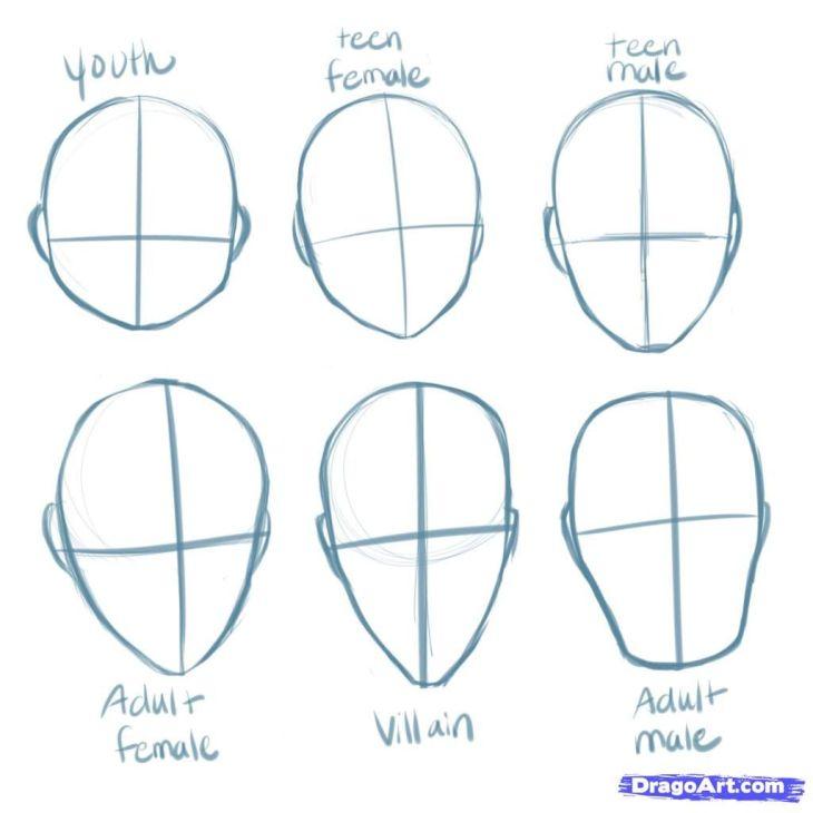 animestepbystepdrawinghead How to Draw Manga Heads Step by