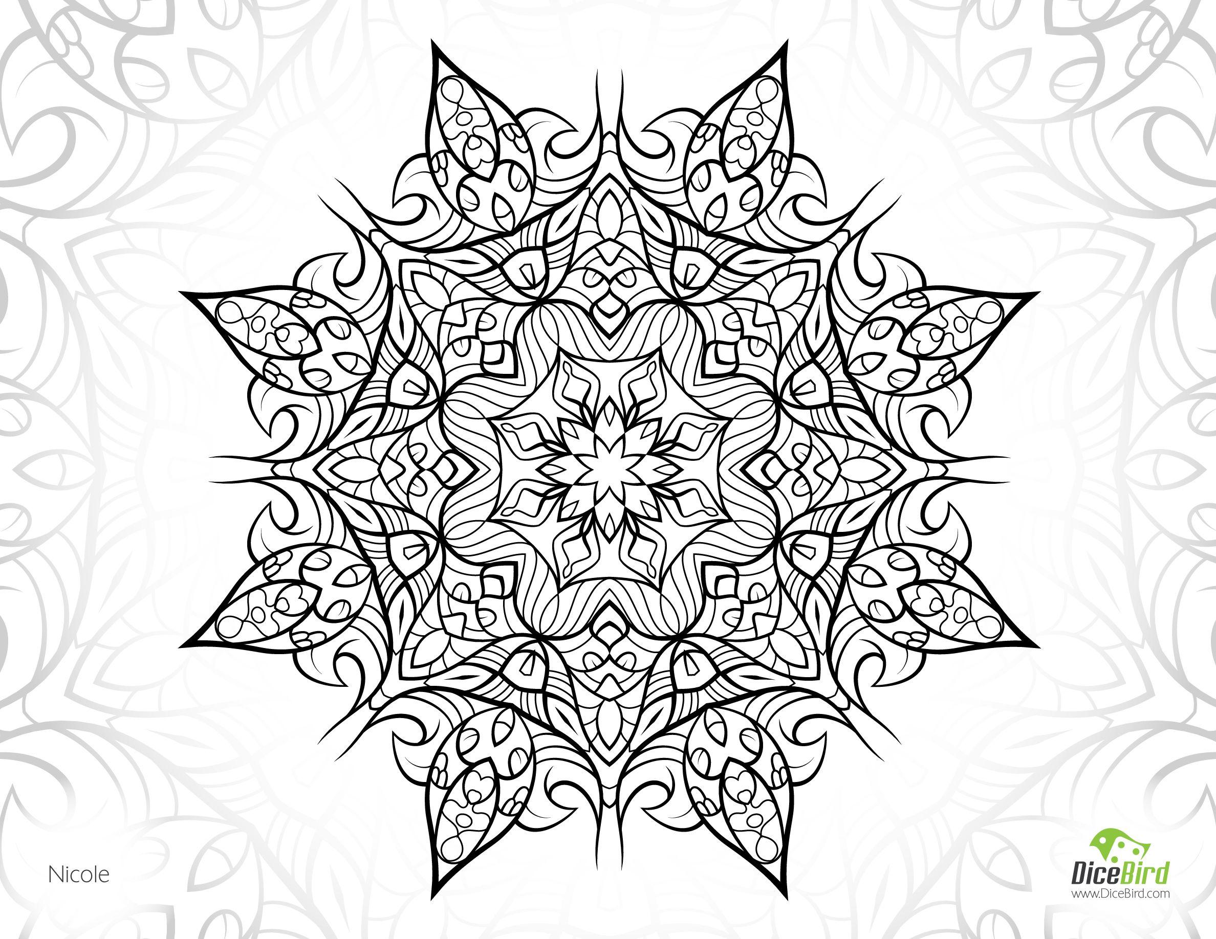 Nicole Flower Free Printable Plex Coloring Pages Printable