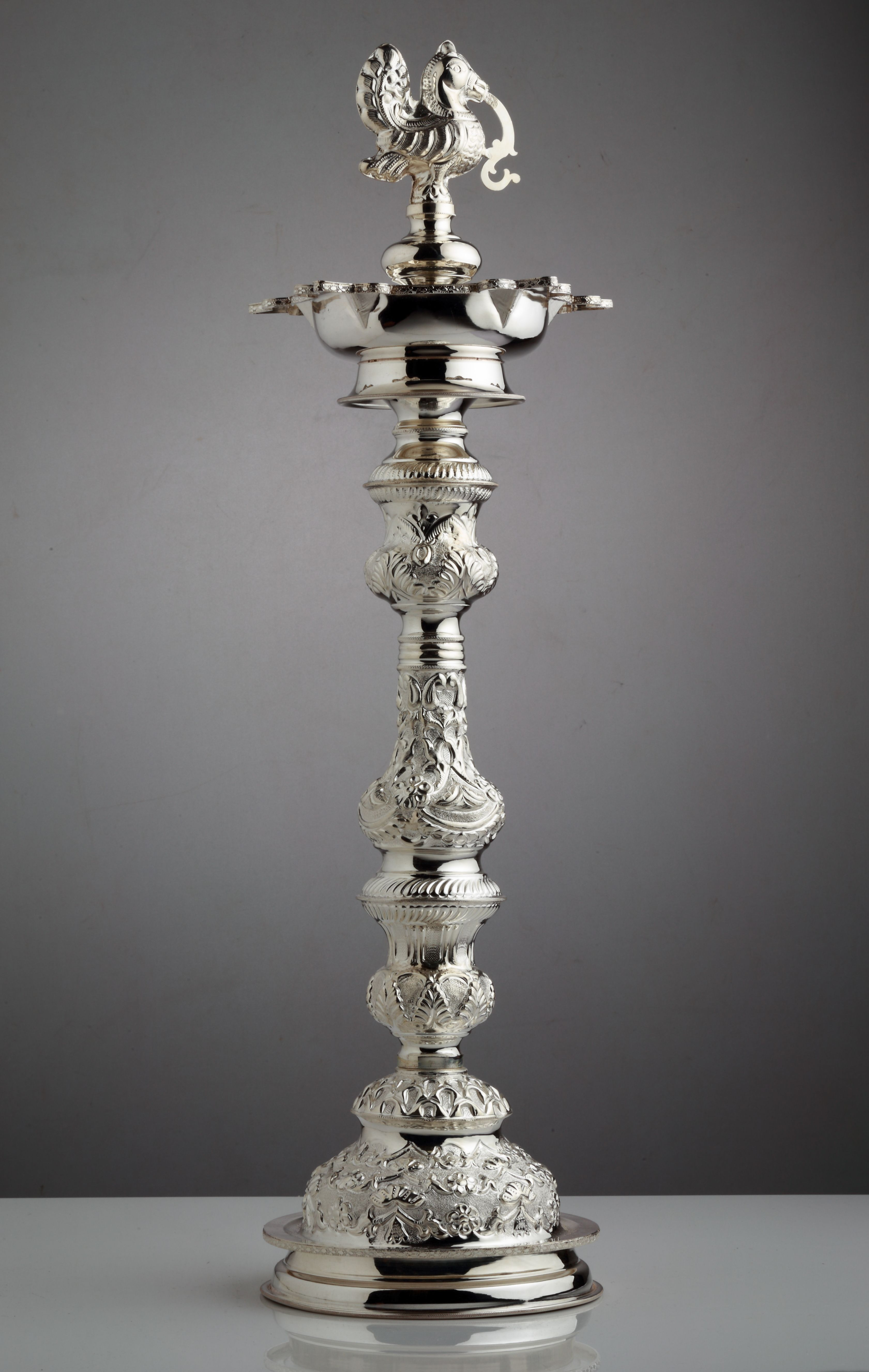 A Skillfully Crafted Silver Lamp Every Cloud Has A Silver Lining Pinterest Silver Lamp
