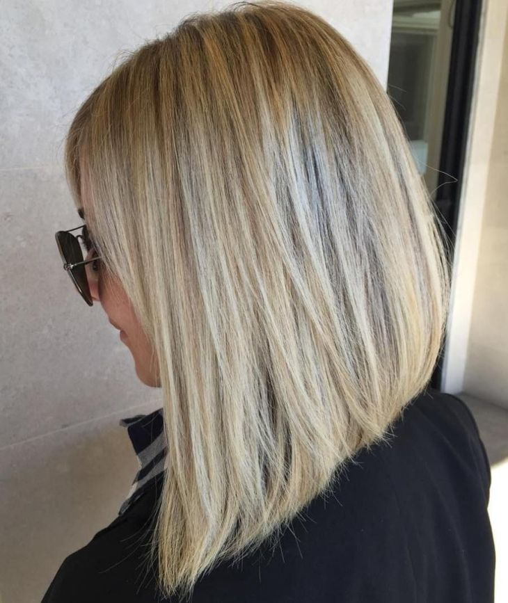 Fun and Flattering Medium Hairstyles for Women Blonde lob Lob