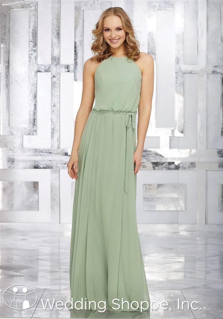 Mori Lee Blouson Chiffon  Bridesmaid Dress  Bridesmaids
