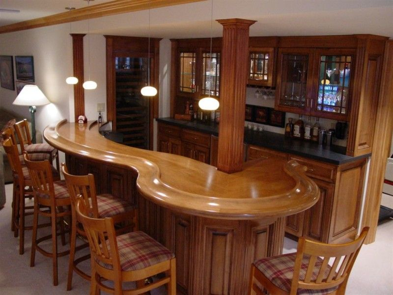 Unique Home Bar Decor With Ball Mini Ceiling Light And