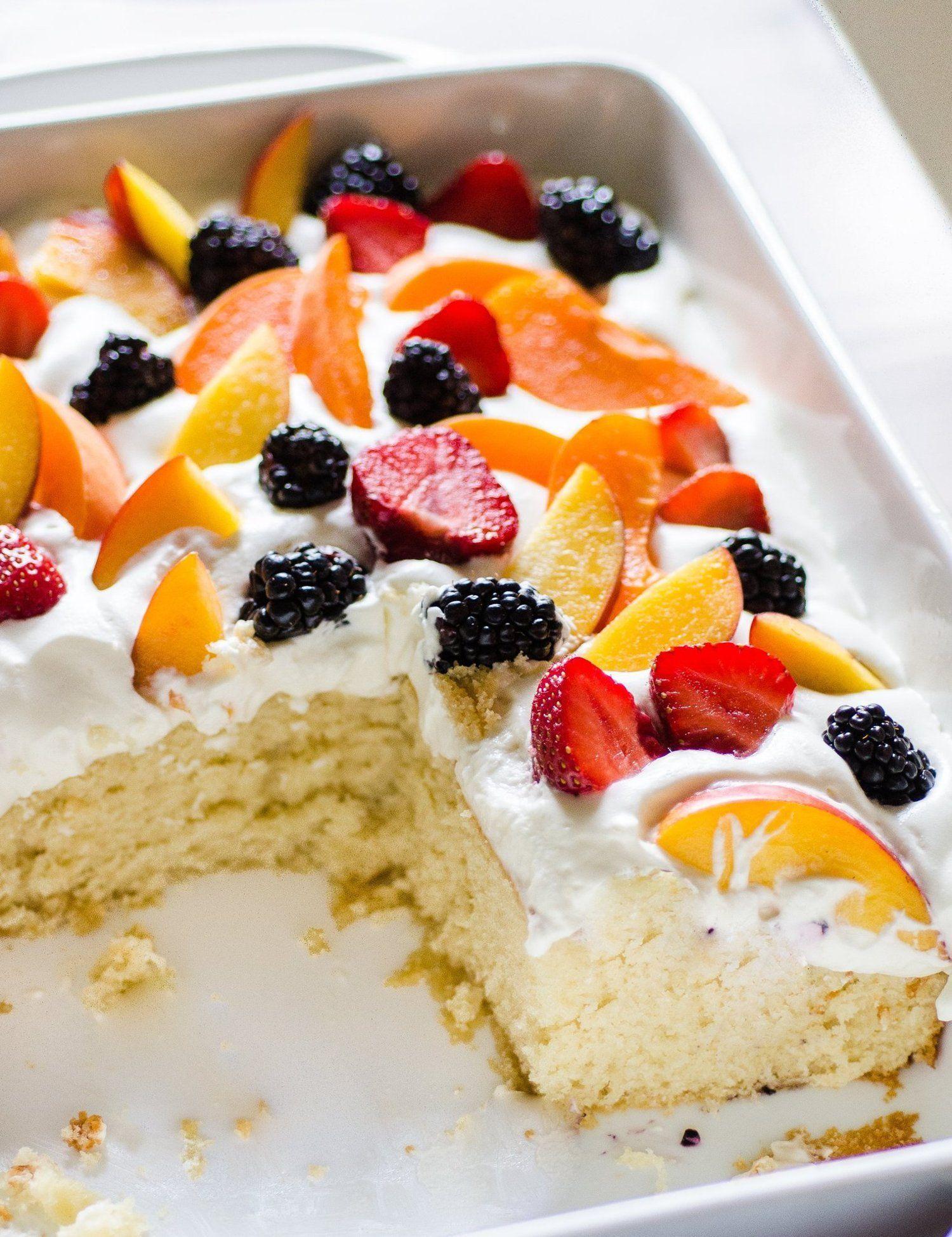 Easy Summer Cake With Fruit Amp Cream