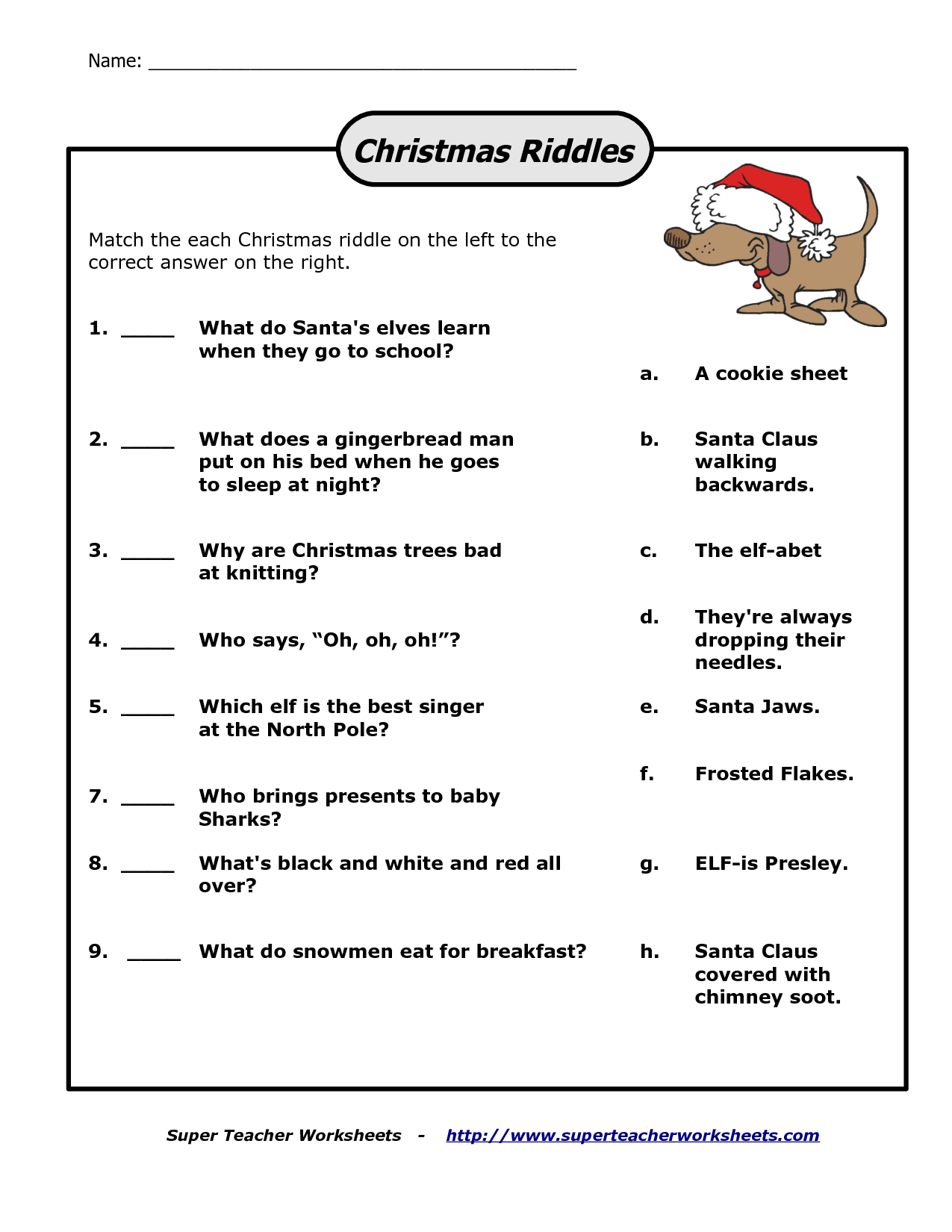 Christmas Riddles And Answers