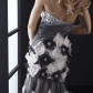 Floral embellished gown with high low jasz couture high low high