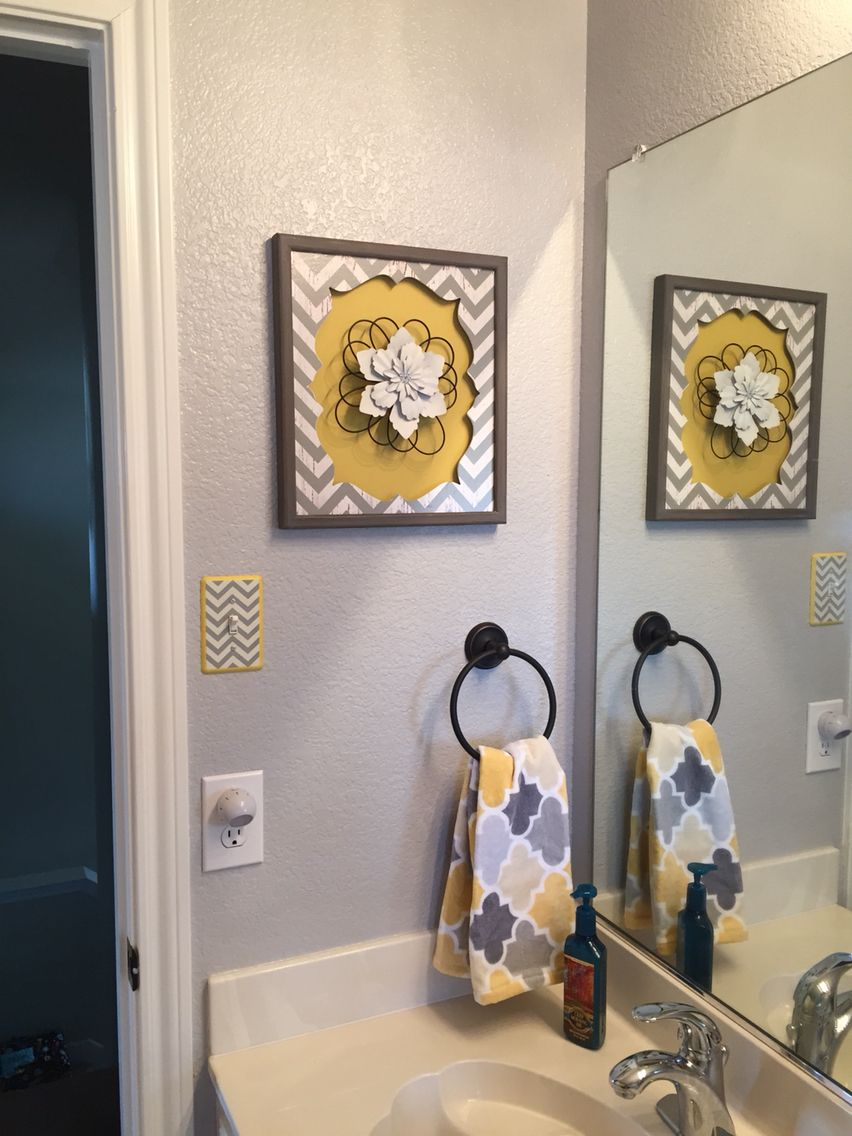 gray & yellow bathroom | bath redesign | pinterest | grey yellow