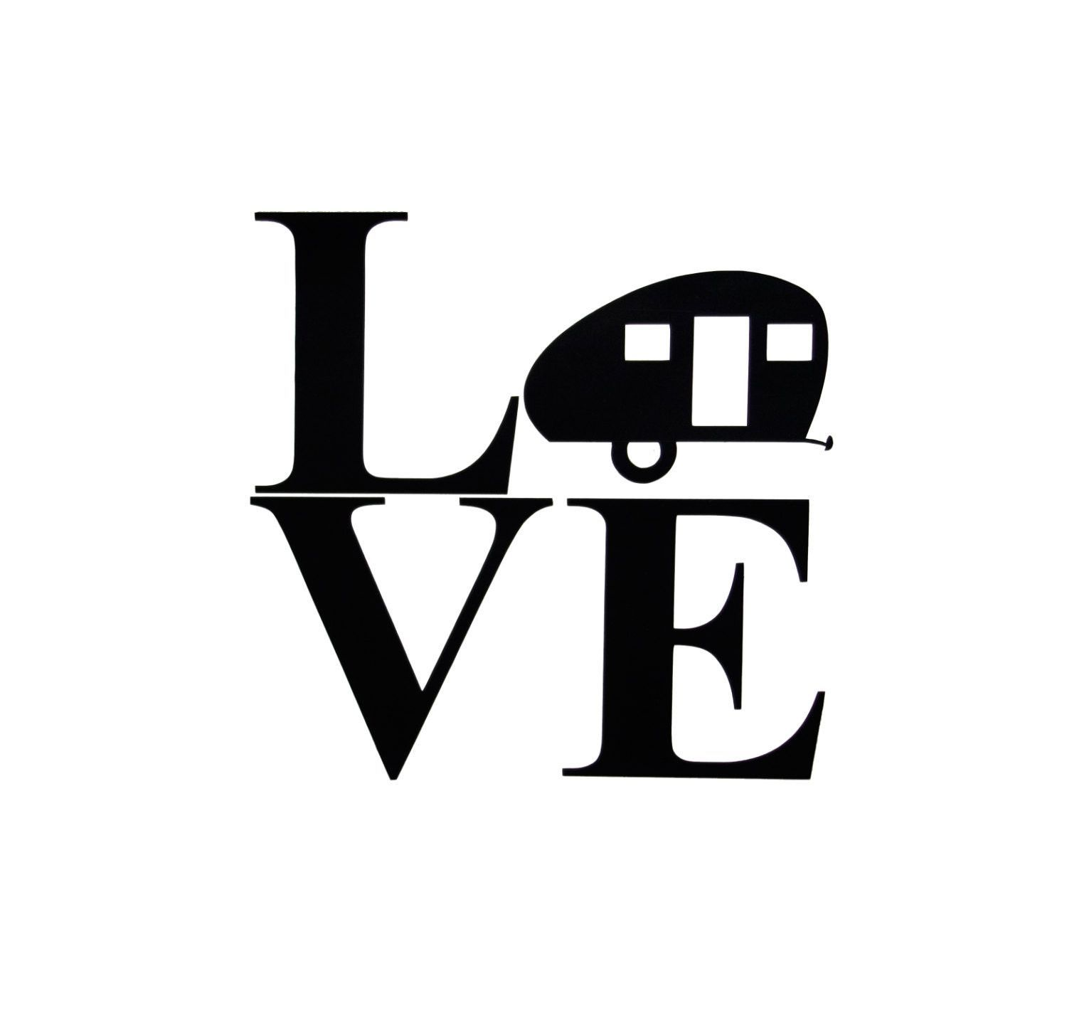 Vinyl Decal Rv Teardrop Camper Silhouette Love Rv