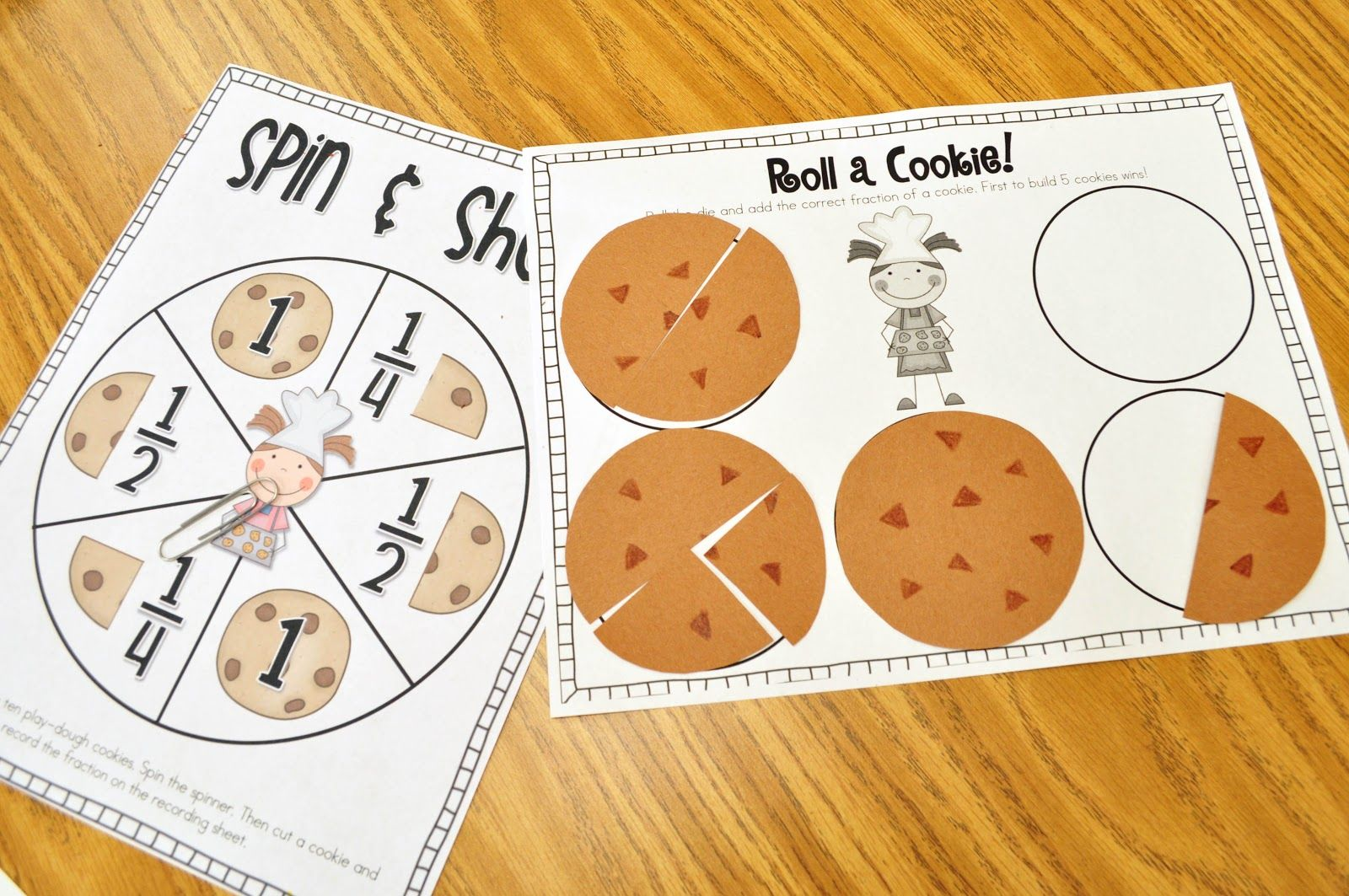 Here S A Fun Cookie Fractions Game To Go Along With The Book The Doorbell Rang By Pat Hutchins