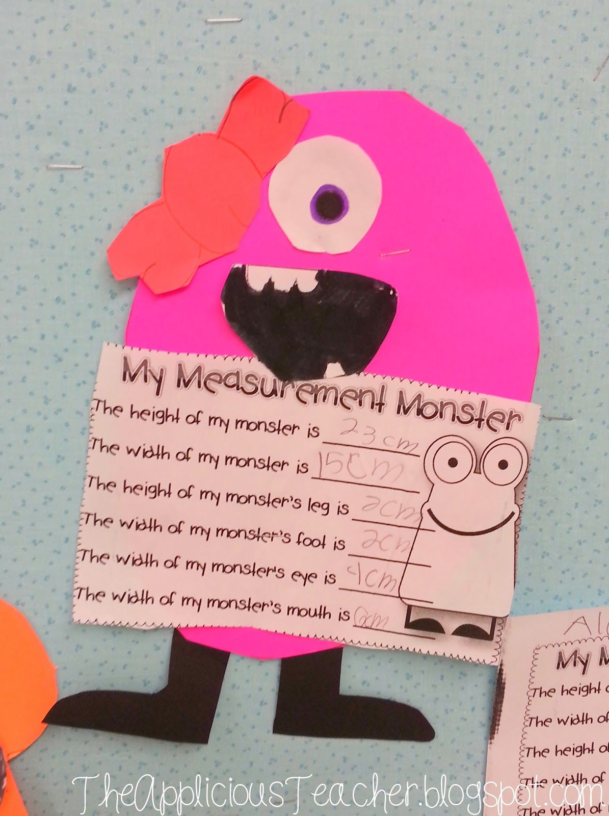 Students Create A Monster Then Measure Certain Body Parts