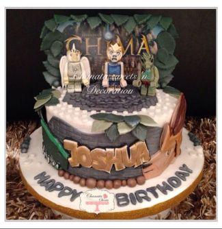 gâteau d'anniversaire Lego Chima
