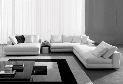 Blackmail Furniture Hamilton Sofa And Side Table By Minotti White