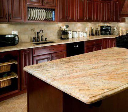 Let's Talk About Backsplashes, Baby | Granite, Light ... on Backsplash Ideas For Black Granite Countertops And Cherry Cabinets  id=18865