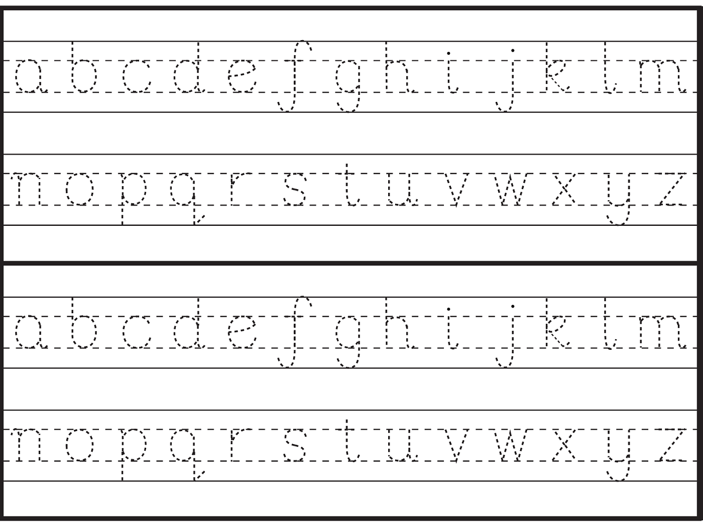 English Alphabet Worksheet For Kindergarten