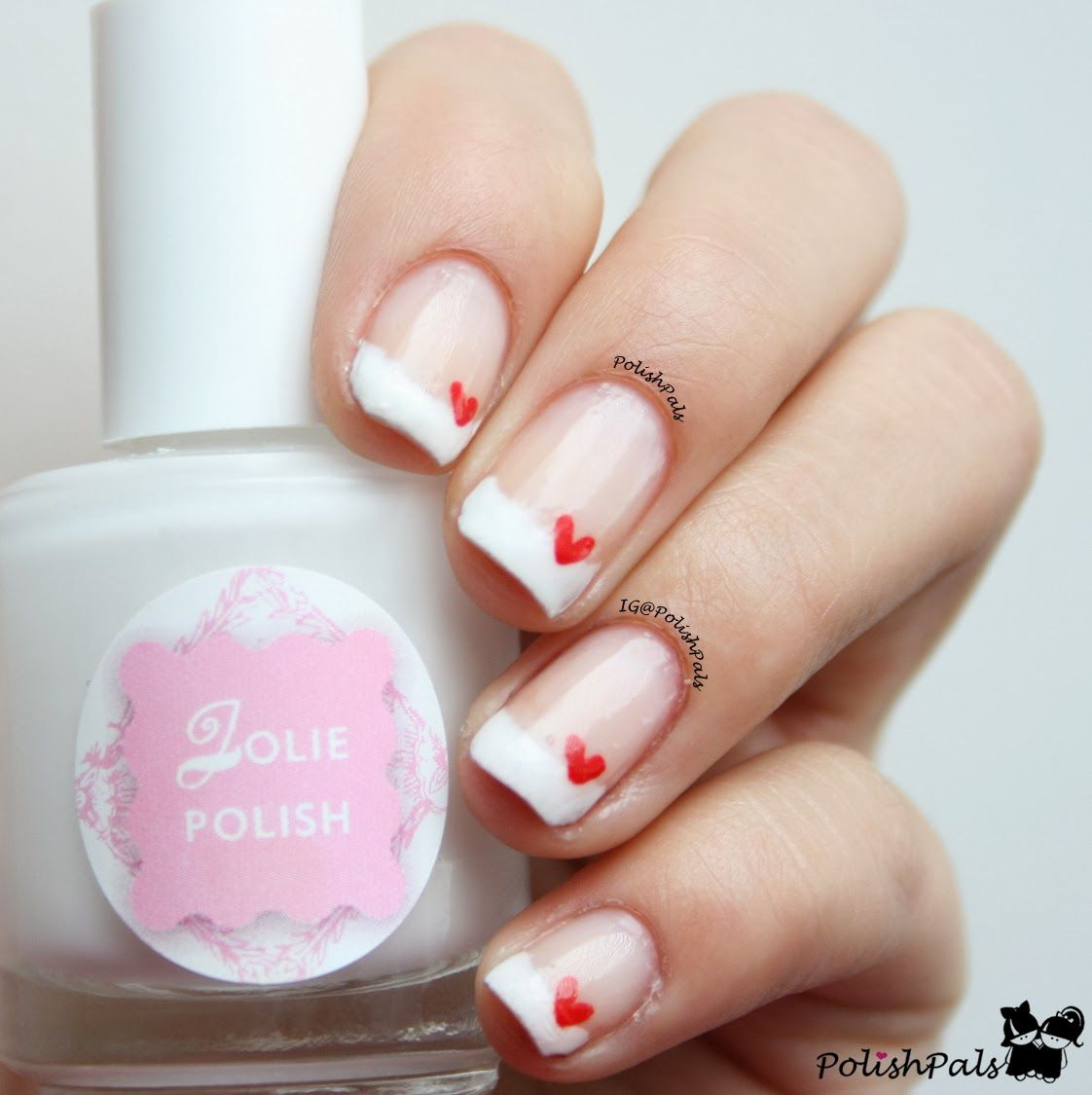 French Tips Hearts For Valentine S Day