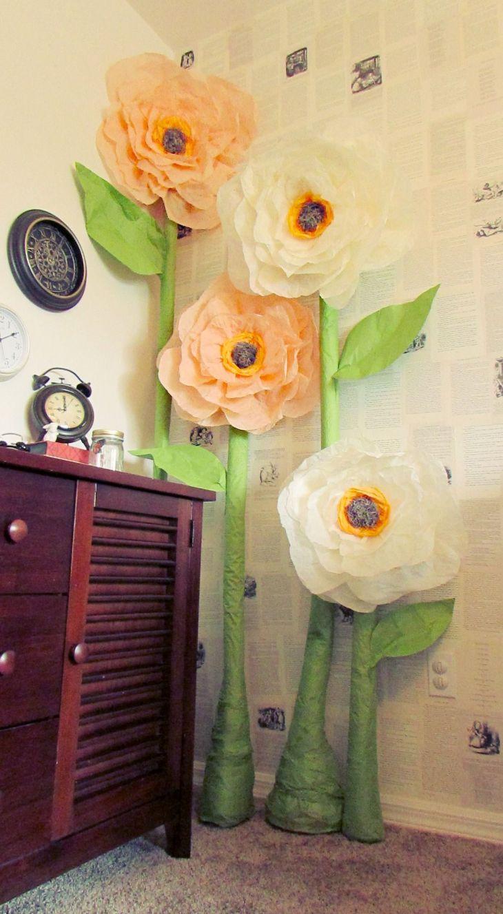 Giant Tissue roses Wonderland Nursery I used this awesome tutorial