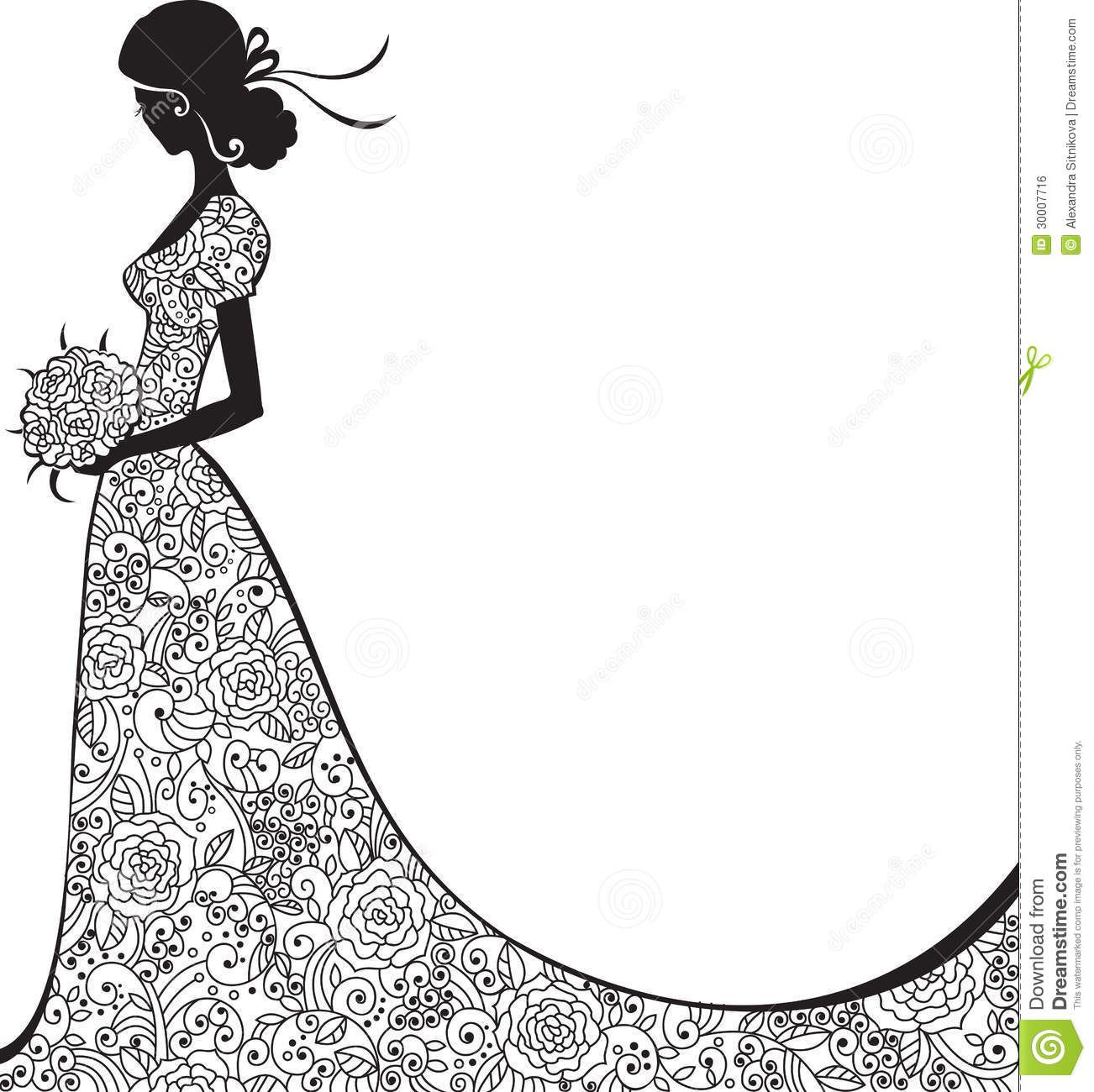 Elegant Bride Clipart Wedding Concepts