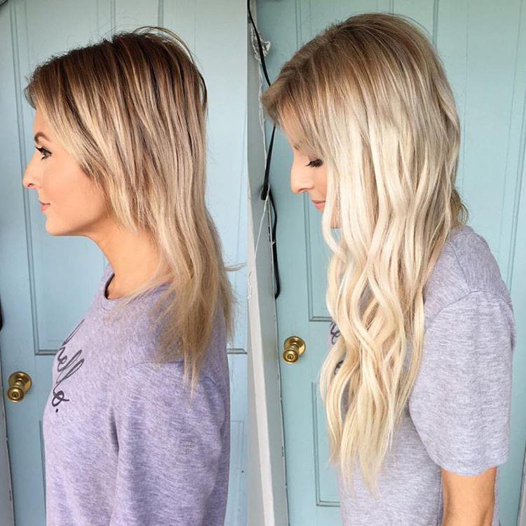 Blonde bombshell total hair transformation using