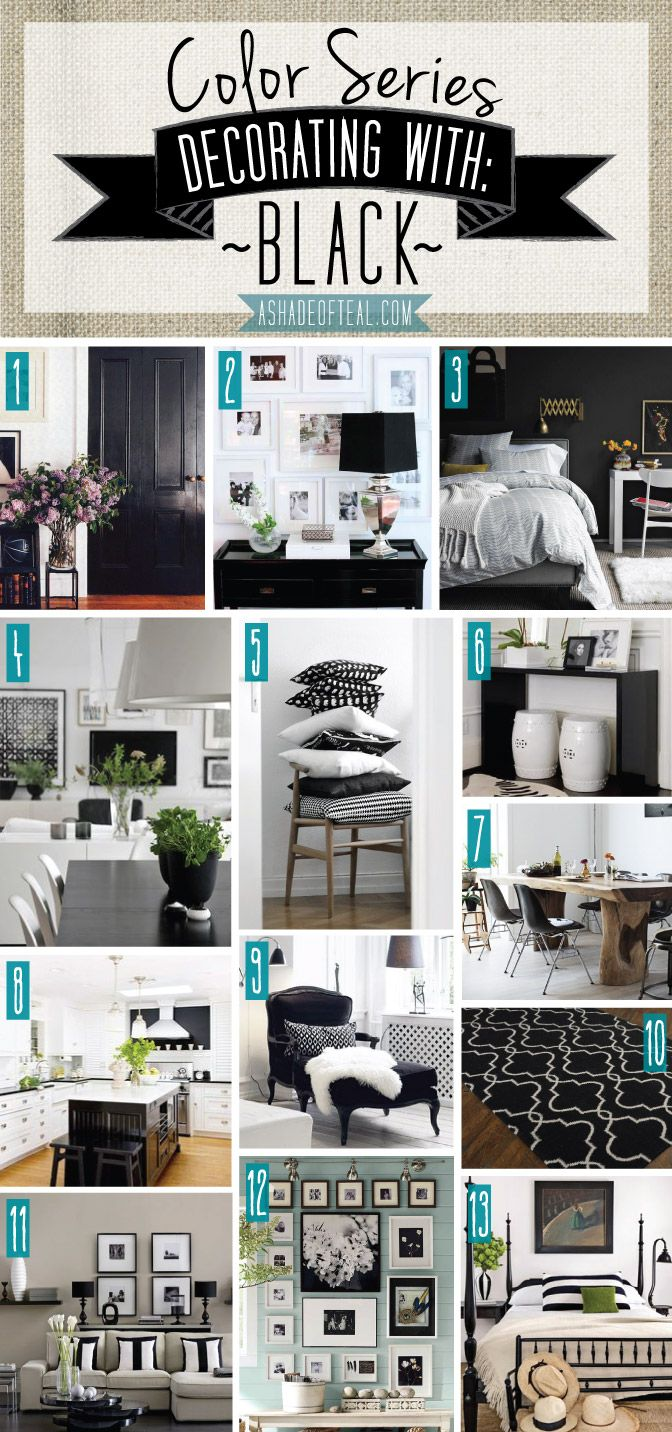 Color Series Decorating with Black  Teal Decorating and Black