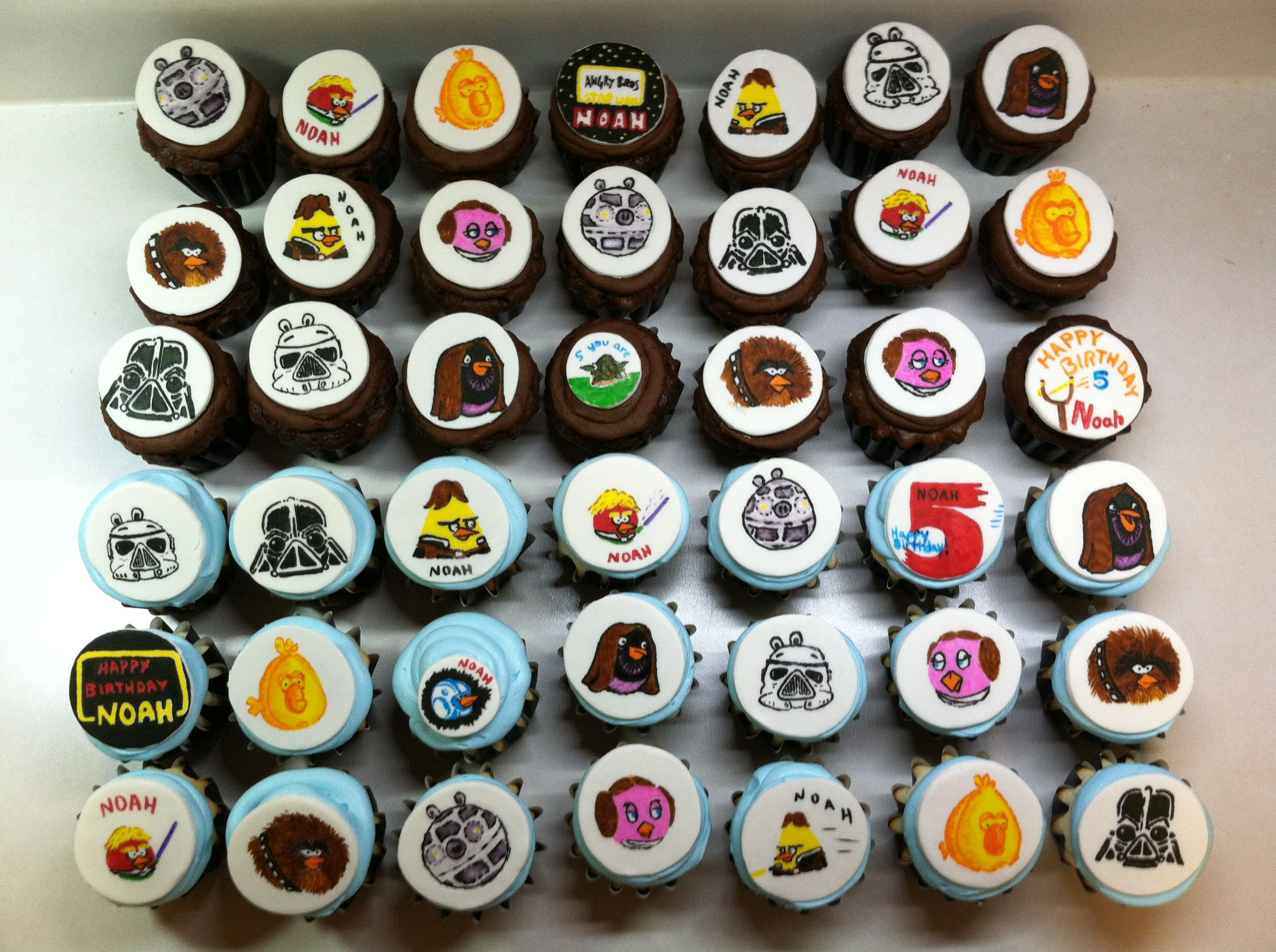 Star Wars Angry Birds Cupcakes By Missing Ingre Nt