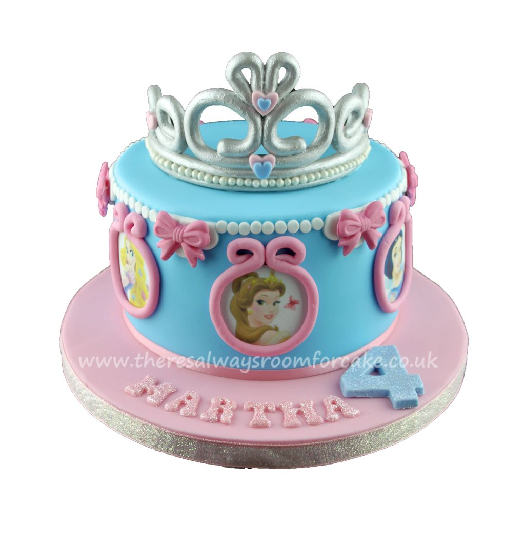 Disney Princess Tiara Birthday Cake