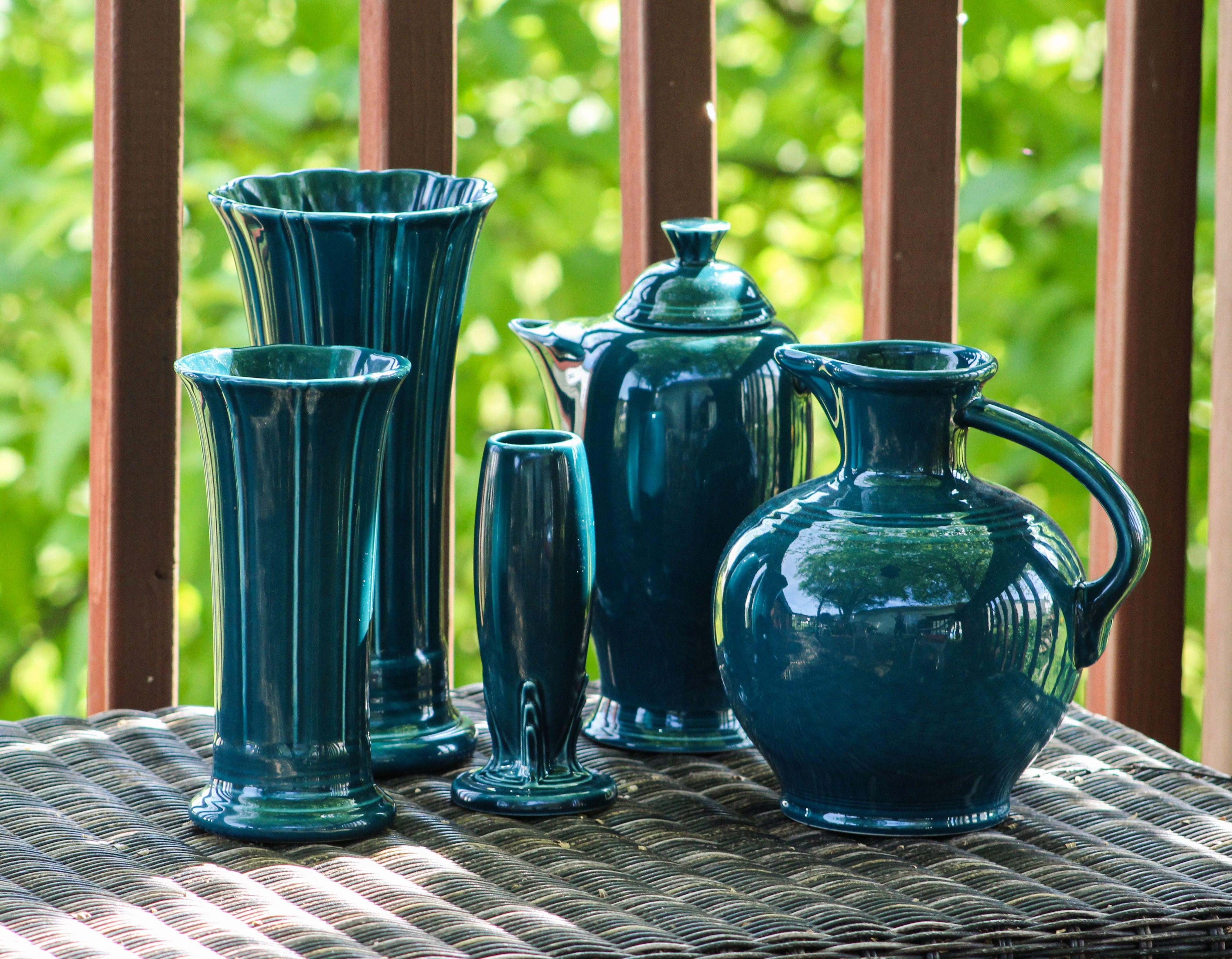 fiesta juniper medium small bud vases coffee carafe carafe t fiesta pinterest on kitchen decor pitchers carafes id=68120
