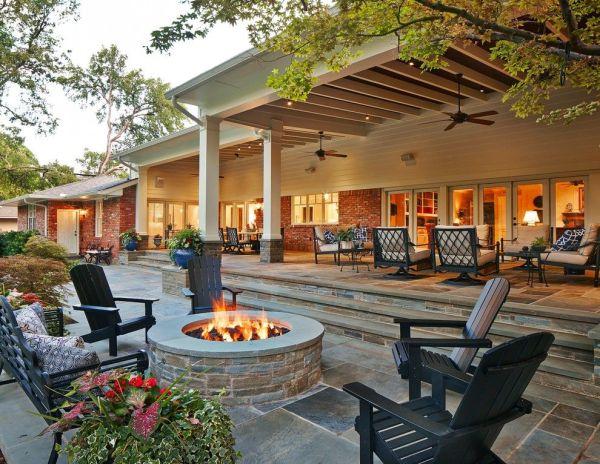 backyard design outdoor patio ideas back porch decorating pictures | Garden | Pinterest