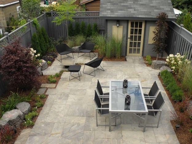 No-grass backyard; dual table set. The detailed landscape ... on No Grass Backyard Ideas  id=82210