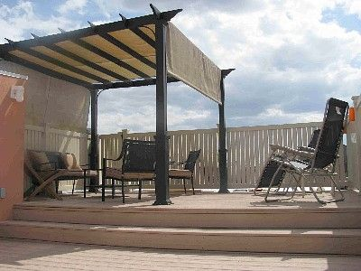 Easy pergola cover idea that can be removed for winter ... on Patio Cover Ideas For Winter id=60099