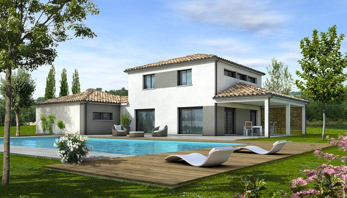 plan maison moderne provencale