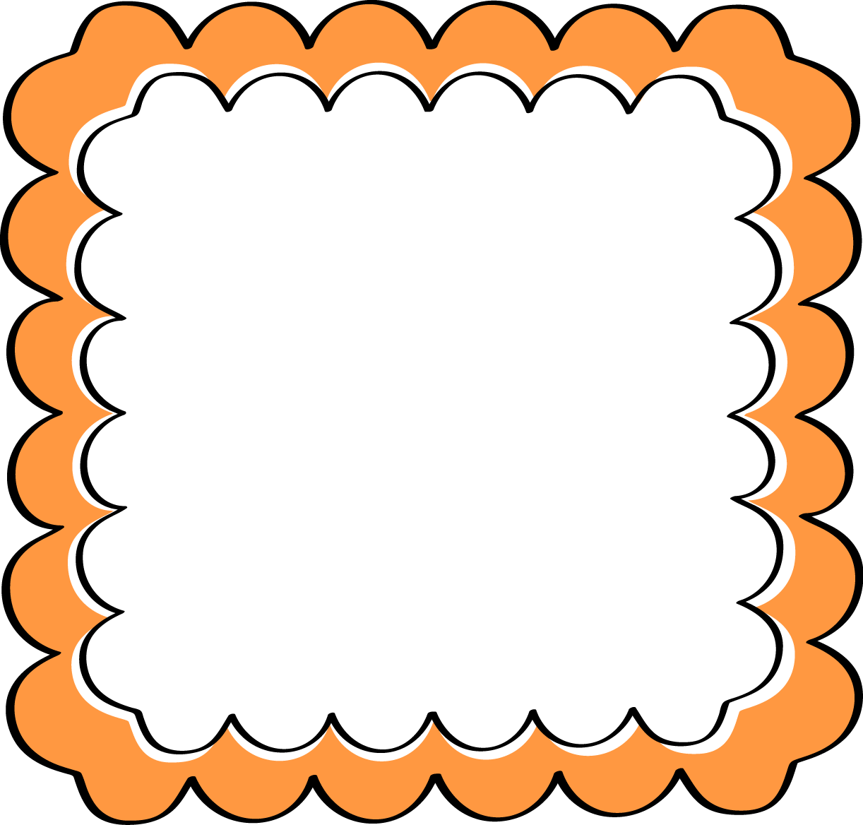 Black And Orange Border