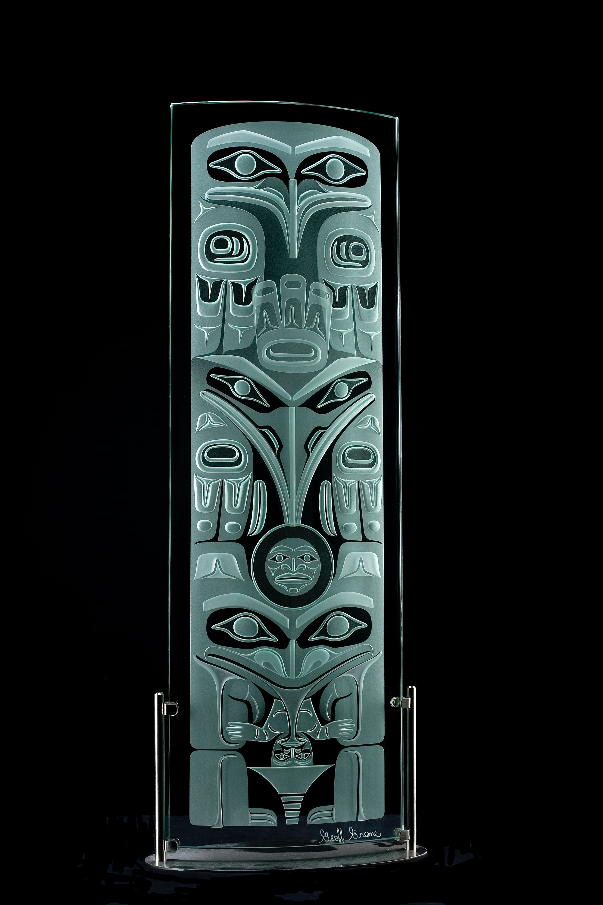 Glass Art Pacific Nw Haida Lineage Totem