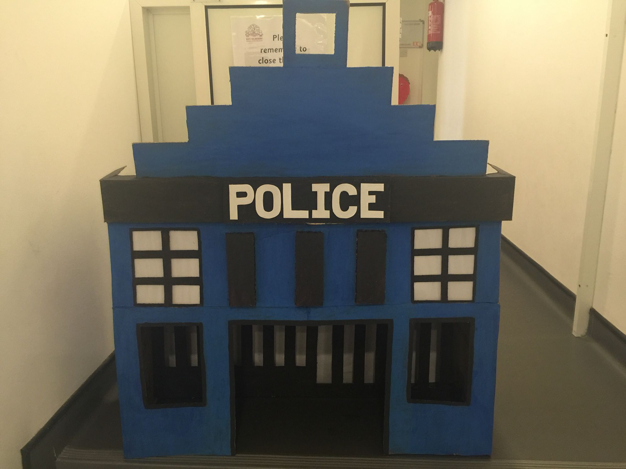 Police Station Cardboard Recycle