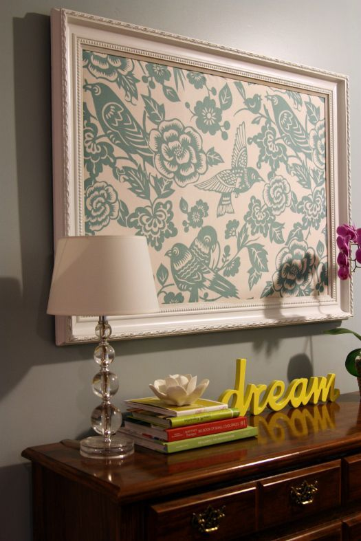 Fabric in a frame-EASY DIY | Décorations murales ...