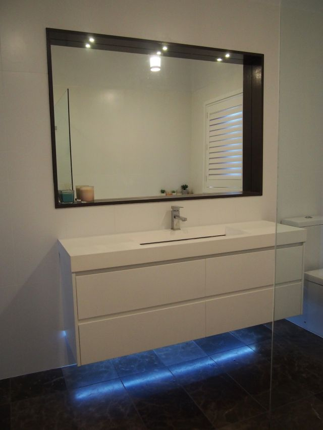 Bathroom lighting LED recessed mirror lights & under vanity LED