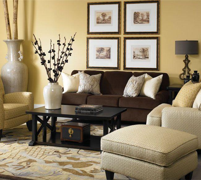 Living Room Ideas Dark Brown Sofa Jihanshanum
