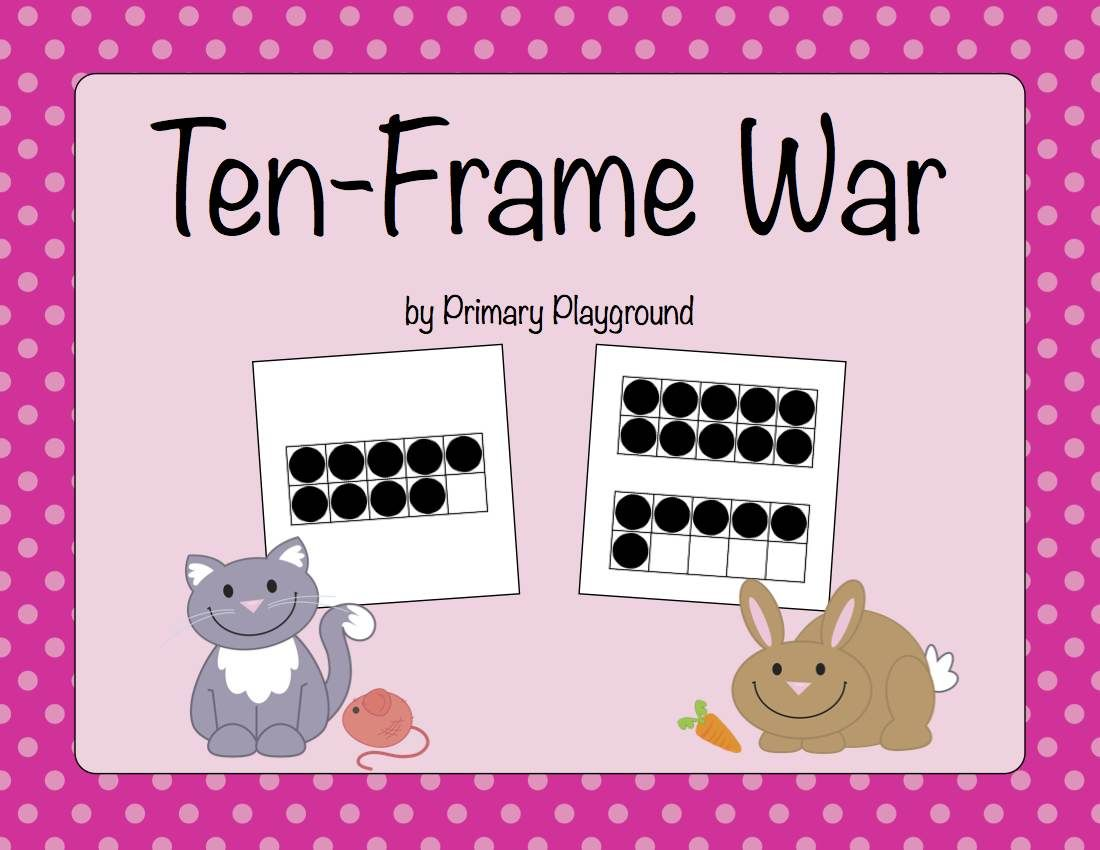 A Twist On The Classic War Game Using Ten Frames To 20