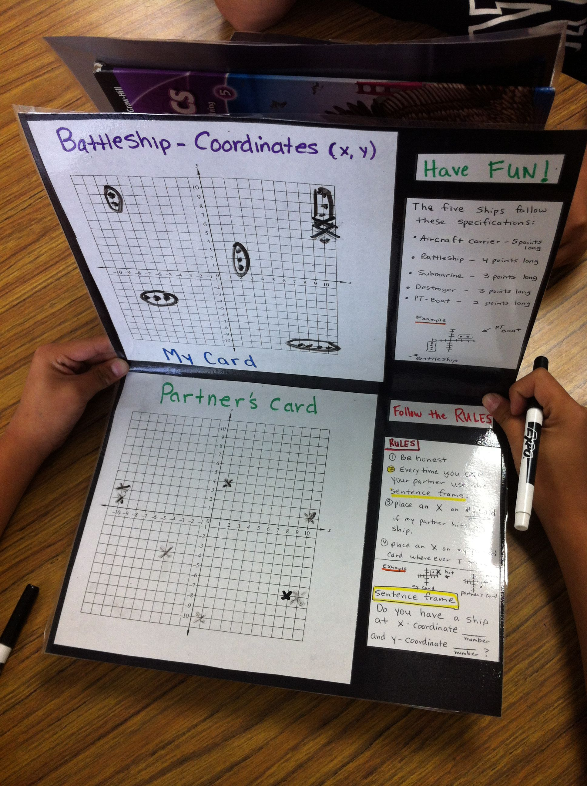 Battleship Coordinate Planes And Ordered Pairs Students Enjoy Playing It