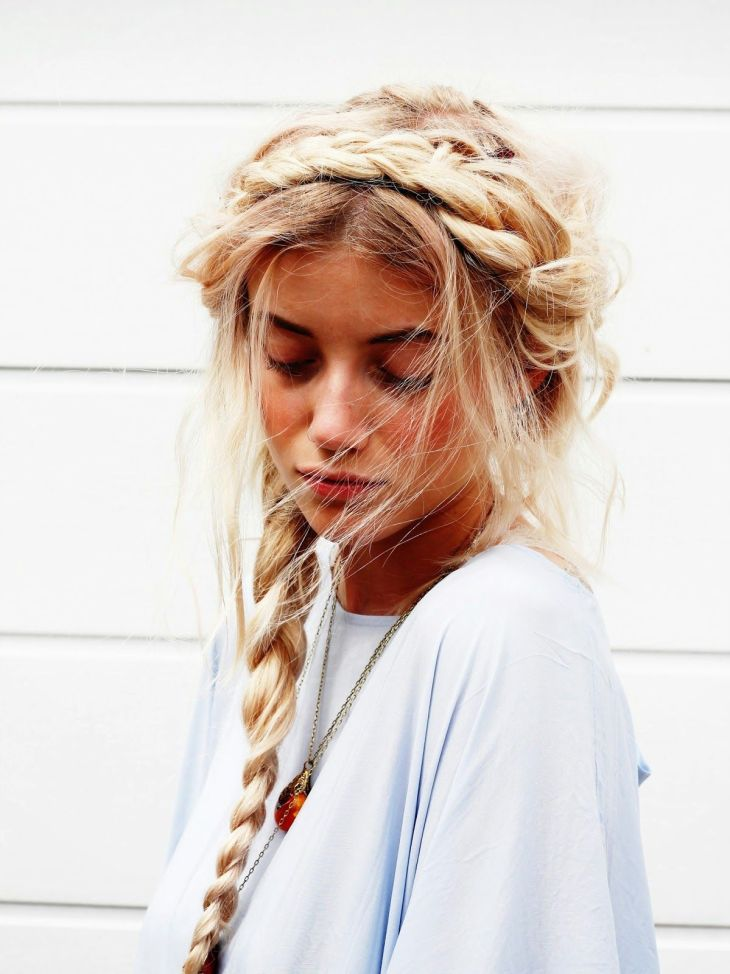 messy braids  hair ideas  Pinterest  Messy braids Hair style and
