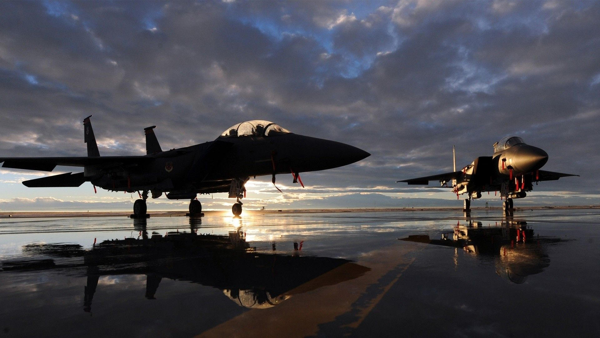 two-us-military-aircraft-jet-eagle-f15-at-dawn-1920x1080