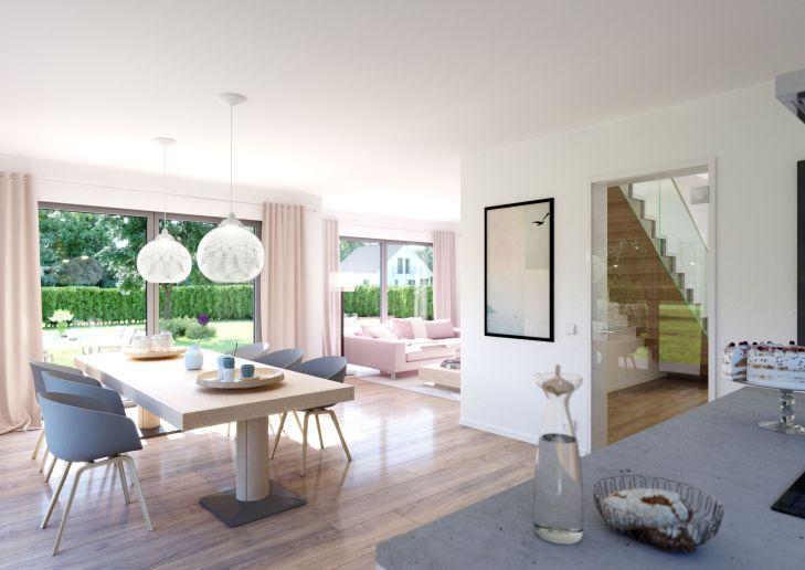 Highlight des Hauses Vero ist der offene Wohn und Essbereich mit