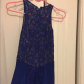 Beautiful navy blue long gown military ball dress lace and hug