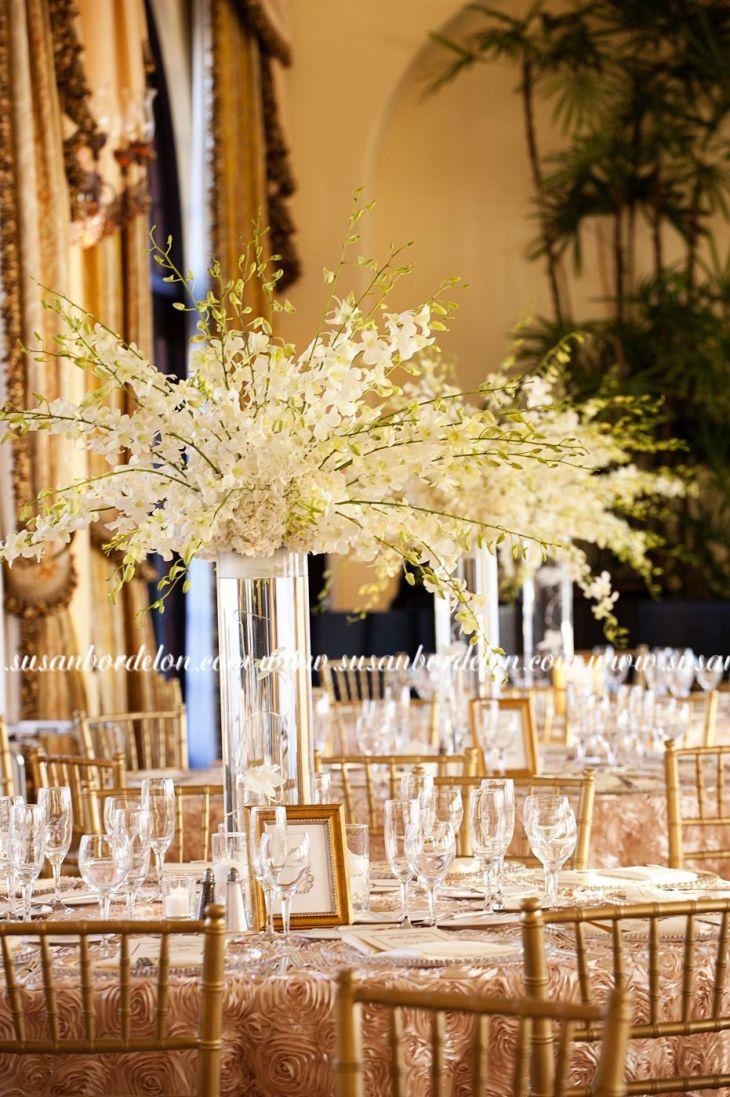 Riviera Country Club Wedding Center pieces In my dreams