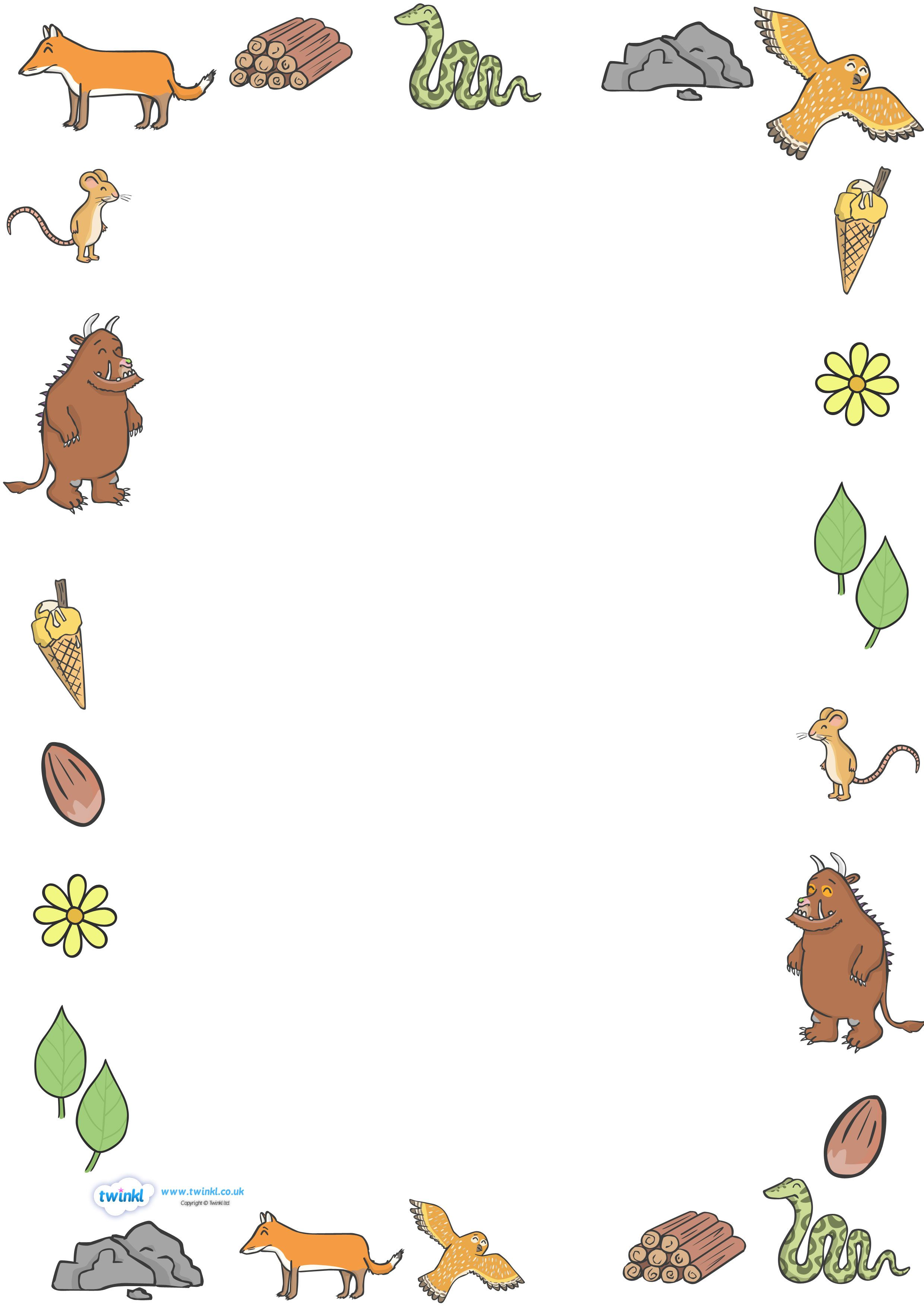 Twinkl Resources Gt Gt The Gruffalo Full Page Borders
