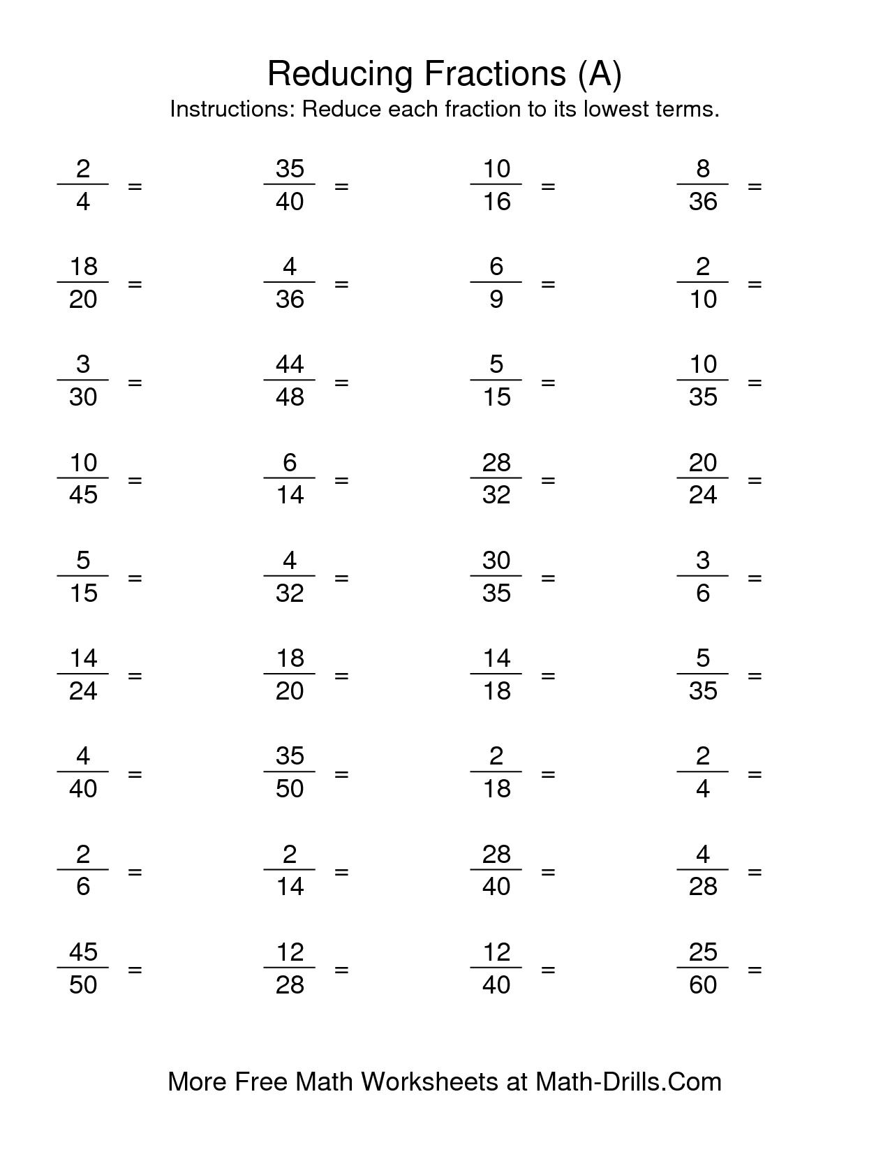 Math Worksheets For Grade 5 Multiplying Fractions